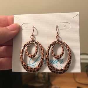 Copper plated earrings